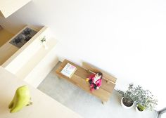 House H by Hiroyuki Shinozaki Architects, in Matsudo (Tokyo), was built for a young couple with a kid.