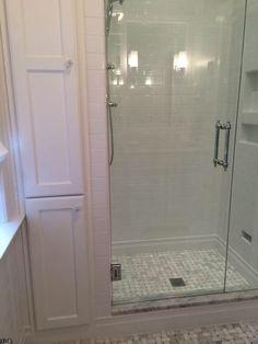 Small bath option - narrow linen closet