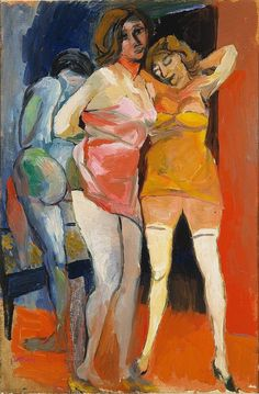 Renato Guttuso (Italian, 1911-1987), Scantily-dressed Women, c.1940