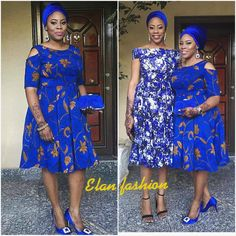 """@elanfashion_ng on Instagram: """"Royal blue z bae💙💙💙.....funke @olufunkeagbaje ceo @bilqueroyale rocking her brand in the shoes n accessories.... Makeup by @feferityfaces…"""""""