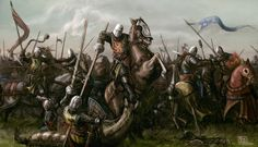 A piece I did back in 2012 for Medieval Warfare Magazine. I'm not steeped in German Medieval history but I believe Worringen was one of many battles fou. Battle of Worringen Medieval Knight, Medieval Armor, Medieval Fantasy, Fantasy Battle, Fantasy Warrior, Fantasy Artwork, Knights Templar, Military Art, Middle Ages