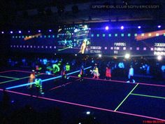 Night Tennis - i've never done it this hi-tech, but it's been some great memories with just a few glowsticks and some summer nights :)