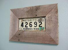 Diy wall art frame a sentimental or vintage license plate palette wood frame license plate solutioingenieria Image collections