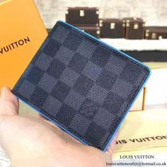9c759ebb4669 Louis Vuitton N63294 Multiple Wallet Damier Graphite Canvas