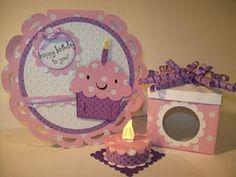 Cricut Birthday Card and Tea Light Candle Cake.  Create a Critter and Wild Card.  *