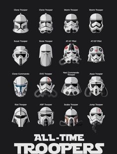 Troopers. Not all are listed but a good representation of most troopers
