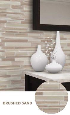 #tile #lowes #mosaics #glassmosaics #backsplash SB007SAND1213 Available at Lowe's and Lowes.com