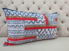 Vintage Style batik Hmong cushion cover Cotton