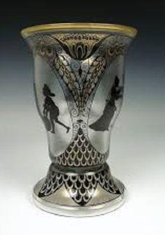 Fachschule Steinschönau An enameled glass vase