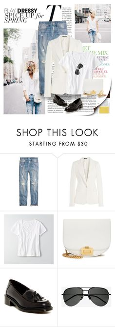 """""""Untitled #148"""" by craftsperson ❤ liked on Polyvore featuring Madewell, Maison Margiela, American Eagle Outfitters, Victoria Beckham, Dr. Martens and Yves Saint Laurent"""