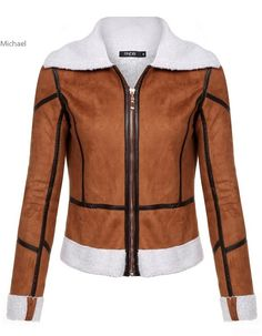 >> Click to Buy <<  Women Casual Turndown Neck Long Sleeve Jacket Leather Patchwork Zipper Cotton Short Jackets Coat Brown S-XL #Affiliate