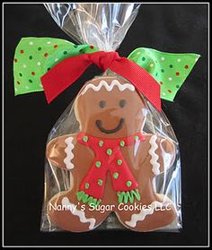 Cute gingerbread man cookie