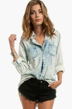 Totally Bleachin' Denim Shirt - I'm not normally a fan of denim shirts but I love this one.