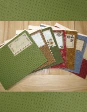 Fabric file folders - and lots of other free patterns for quilting and fabric projects.