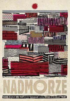 Nadmorze, plakat z serii Polska, Ryszard Kaja