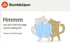 These cats can't find their way either. http://www.stumbleupon.com/404