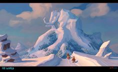 Ice World by Andrey Egorov, via Behance