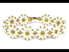 Tutorial: flower bracelet [easy] SuperDuo beads / Цветочный браслет из супердуо бисера ЛЕГКО! - YouTube