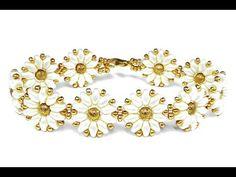 video flower bracelet [easy] SuperDuo beads  ~ Seed Bead Tutorials
