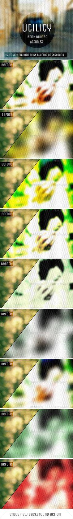 Brick Blurred Background Action FX