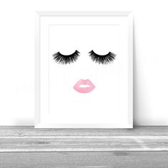 Hey, I found this really awesome Etsy listing at https://www.etsy.com/listing/253949630/lips-lashes-makeup-print-instant