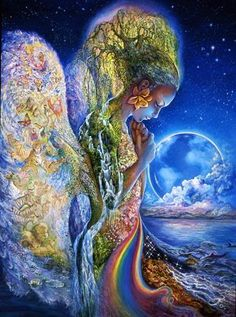 """Gaia - """"Mother of all things."""" The Earth itself, mother of the Titans, the old gods. Usually represented as a giant woman. Before anything else existed, there was only Chaos (the Void, the Nothingness, the Emptiness) and the Earth. Gaia nurses the ill and watches over marriages."""