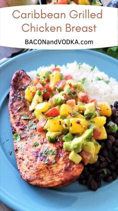 All You Need Is, Mango Avocado Salsa, Summer Grilling Recipes, Health Dinner, Summer Dishes, Healthy Protein Dinner Recipes, Clean Eating Dinner Recipes, Best Healthy Recipes, Healthy Grilled Chicken Recipes
