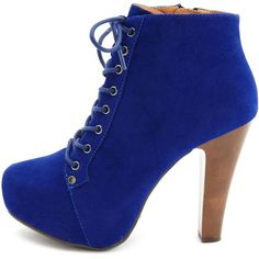 Lace-Up Platform Heel Bootie (€32) ❤ liked on Polyvore featuring shoes, boots, ankle booties, heels, sapatos, zapatos, high heel ankle boots, lace up ankle boots, platform ankle boots and faux suede lace-up booties