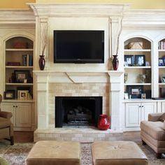 TV above fireplace. #LimaOhio #Home #TV #Ideas