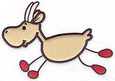 Goat applique | Applique Machine Embroidery Design or Pattern