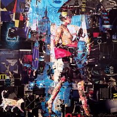 Collage Artwork: Collage Art by Derek Gores