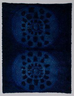 Ritva Puotila Blue Well 60s Patterns, Fabric Patterns, Print Patterns, Rya Rug, Wool Rug, Textiles, Latch Hook Rugs, Rug Inspiration, Pattern And Decoration