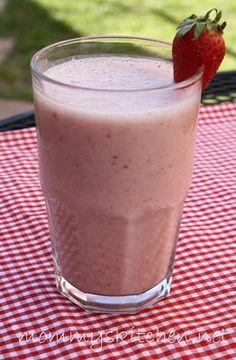 Strawberry Banana Smoothie    1 - cup vanilla almond milk  1 1/2 - cups ice  2 - ripe bananas fresh or frozen  1/2 - 1 - cup whole strawberries fresh or frozen  1 - cup strawberry or vanilla yogurt  1 - 2 tablespoon honey