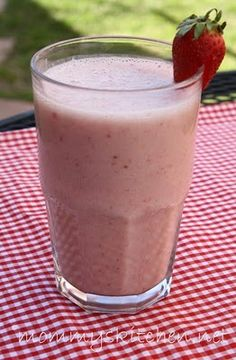 Strawberry Banana Smoothie    1 - cup vanilla almond milk  1 1/2 - cups ice  2 - ripe bananas fresh or frozen  1/2 - 1 - cup whole strawberries fresh or frozen  1 - cup strawberry or vanilla yogurt  1 - 2 tablespoon honey. Makes 2-3 servings