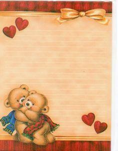 Beautiful Frames: Papeis de Carta de Ursinhos