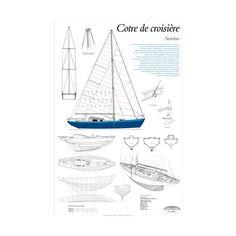 Sereine, cotre de croisière, plan de modélisme | Cotre bermudien lancé en août 1951 à Pont-Aven, achevée et armée à Concarneau, Sereine a été le premier voilier de grande croisière des Glénans | A retrouver sur : http://www.chasse-maree.com/modelisme/4265-plan-de-modelisme-sereine.html