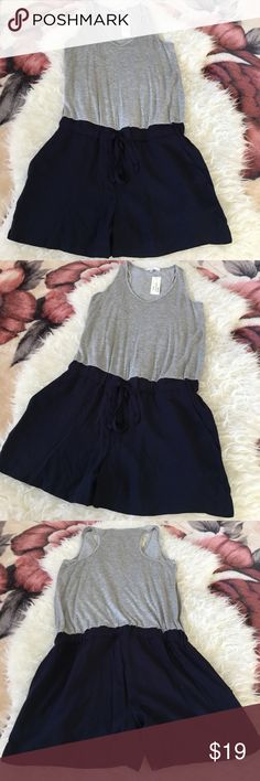 Drew Romper Gray and Navy Blue. Very flattering and lightweight Drew Other