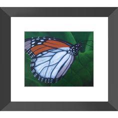 Monarch - Framed Print of Butterfly Acrylic Paint Fine Art - The Unfolding Butterfly