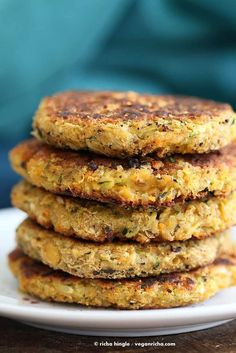 Carrot Zucchini Chickpea Fritters Vegan Recipe | Vegan Richa