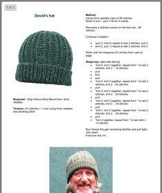 Knit cap – free knitting instructions for beginners – Knitting patterns, knitting designs, knitting for beginners. Beanie Knitting Patterns Free, Knit Beanie Pattern, Loom Knitting, Knitting Stitches, Free Knitting, Crochet Patterns, Hat Patterns, Knit Or Crochet, Crochet Hats