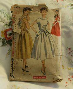 Vintage Simplicity 4556 1950s Dress Sewing by EleanorMeriwether, $8.00