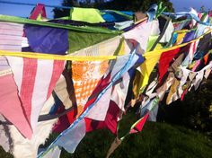 multi coloured patterned festival bunting