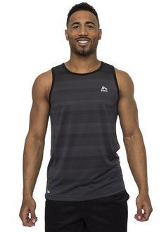 2adea663e01578 Amazon.com  RBX Active Men s Quick Dry Striped Fashion Tank Top