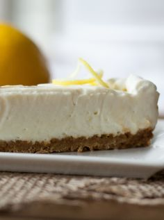 Low FODMAP and Gluten Free Recipe - Lemon cheesecake