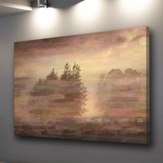ParvezTaj Muted Landscape Graphic Art on Wrapped Canvas | AllModern