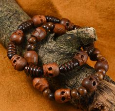 Mens Tribal Skull Bracelets Set of two by DysfunctionDesigns on Etsy, £8.00