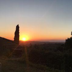 Every. Night.  #summer #sunset #amazing #beautiful #view #tuscany #italy #picoftheday