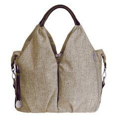 Lassig Green Label Neckline Tote Diaper Bag - Choco Melange - Designer Diaper Bags at Diaper Bags
