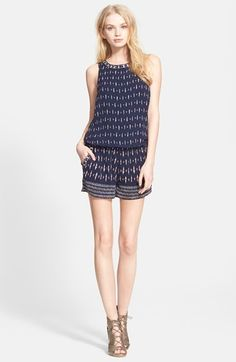 6305950f88a7 $328, Navy Print Playsuit: Kaylure Print Silk Romper by Joie. Sold by  Nordstrom
