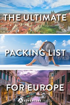 Europe Packing List | Planning a trip to Europe? Here are a few of our travel essentials that we recommend you take with you!